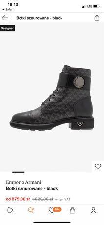 Buty botki Emporio Armani czarne
