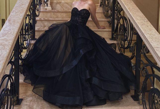 Черное Выпускное Платье JOVANI