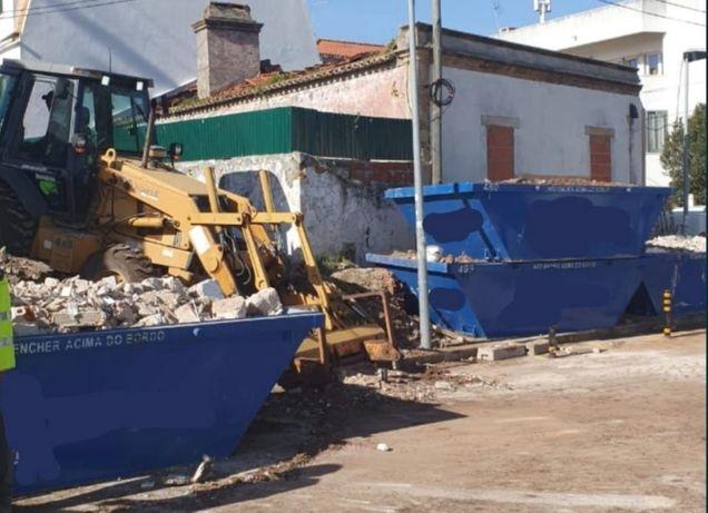 Contentores e carrinhas p/ recolha de entulho e resíduos de jardinagem