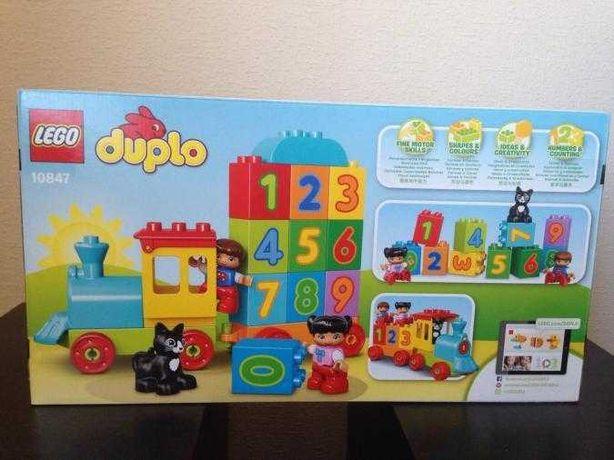 Новый! Конструктор LEGO DUPLO Поезд Считай и играй 23 детали