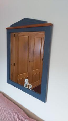 Conjunto de 4 peças espelho mesa cabeceira cômoda e secretaria