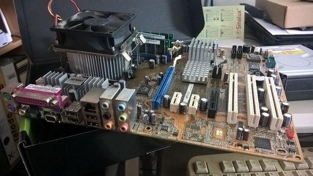 Motherboard asus A8N-E/S + processador AMD Athlon 64 3700+ 2,2 GHz