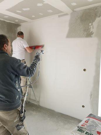 Gładzie, malowanie, suche zabudowy, kompleksowe wykończenia