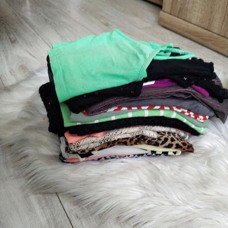 Zestaw ubrań damskich, koszulki bluzki narzutka , rozm M . MARKOWE
