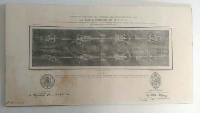 Estampa santo sudário-1898