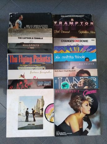 Discos vinil vários Pink Floyd Rui Veloso David Bowie etc
