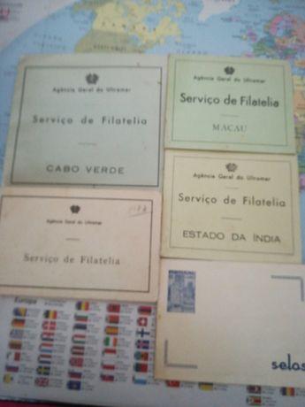 Porta selos muito antigos - conjunto