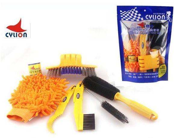 Комплект для ухода чистки велосипеда P02-04 CYLION /щетки/мойка/набор