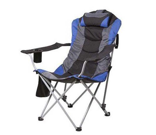 Кресло Time Eco Директор черно-синий для сада и отдыха на природе