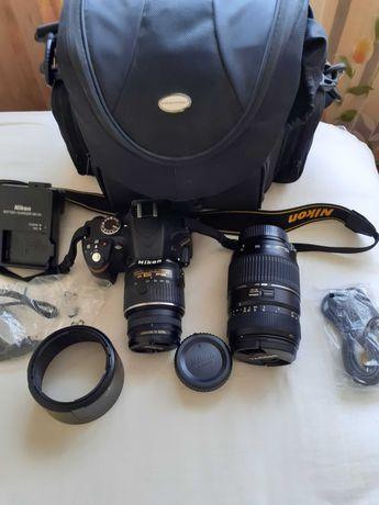Aparat Nikon + obiektyw i torba