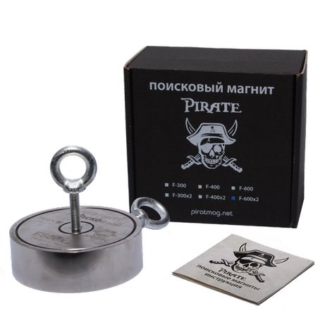 F600x2 800кг + ТРОС + СУМКА Поисковый Магнит Pirate - САМЫЙ МОЩНЫЙ