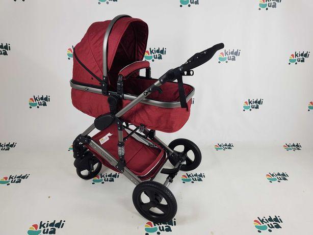 Нова Дитяча коляска luxmom 2в1 червоного кольору люлька прогулка
