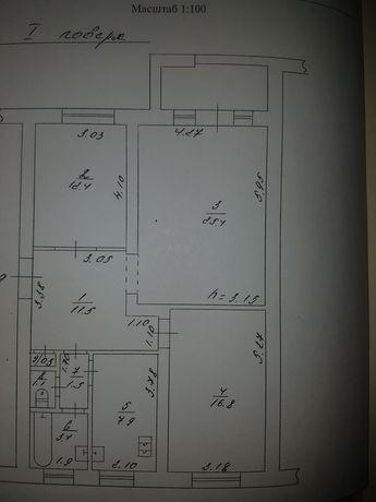 Продам 3-х комнатную квартиру.Можливо обмін на 1-2 кімнатну квартиру