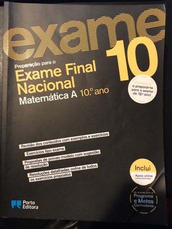 Prepararação Exame Nacional Matemática A - 10º Ano