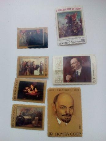 Марки Ленин СССР 1987 и 1988 года
