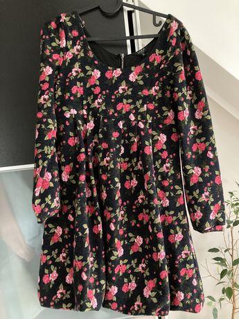 Tunika sukienka ciazowa w kwiaty s m