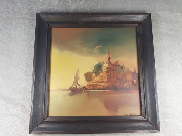 Tomasz Sętowski obraz dzieło sztuki 100% ORYGINAŁ CERTYFIKAT 38x38 cm