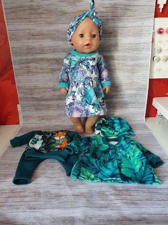 Zestaw 3 kompletów  ubranek dla lalki baby born