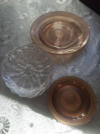 Kryształowe miseczki i talerzyki PRL