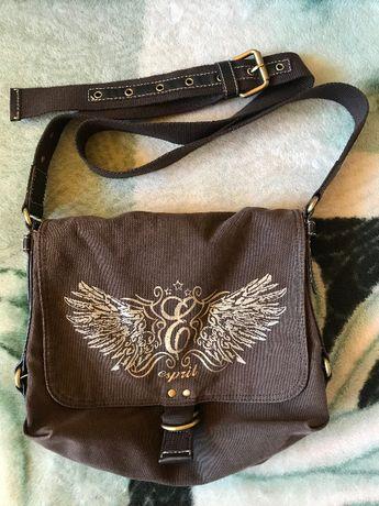 Brązowa torba, listonoszka marki ESPRIT