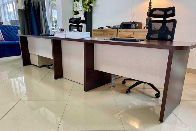 Zestaw biurek z szufladami - komplet biurowy/sklepowy