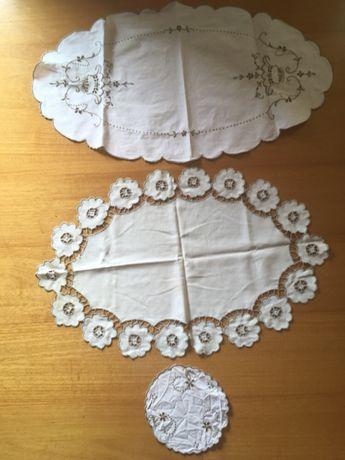 Conjunto 3 peças bordado Madeira