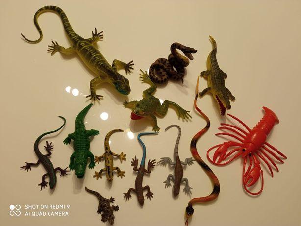 figurki zwierząt gady płazy