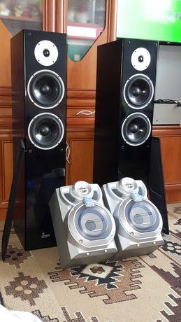Głośniki 2x100wat + 2x35wat i Amplituner McVoice + Pilot