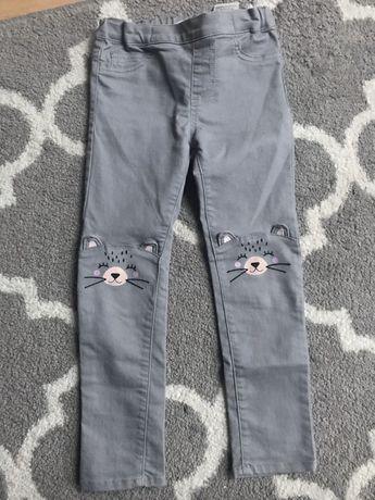 H&M rurki spodnie szare r.110/116