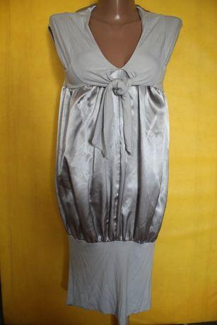 Платье сарафан серебрянное 42-44р красивое