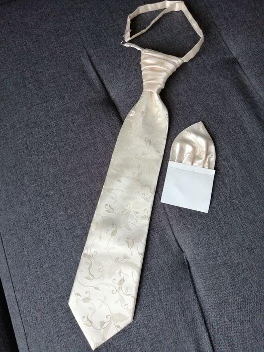 Krawat ślubny + poszetka Sierpc - image 1