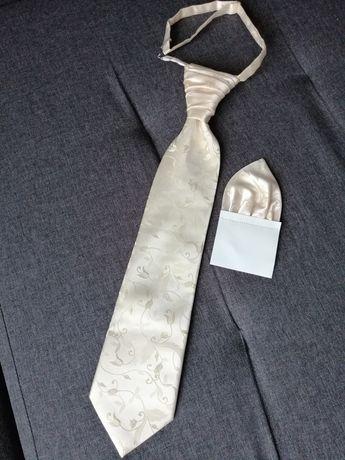 Krawat ślubny + poszetka