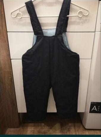 Spodnie zimowe narciarki 80/86