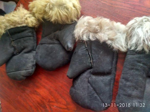 Варежки из овчины