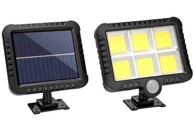 Halogen Lampa solarna 120 led / cob z Czujnikiem ruchu i zmierzchu