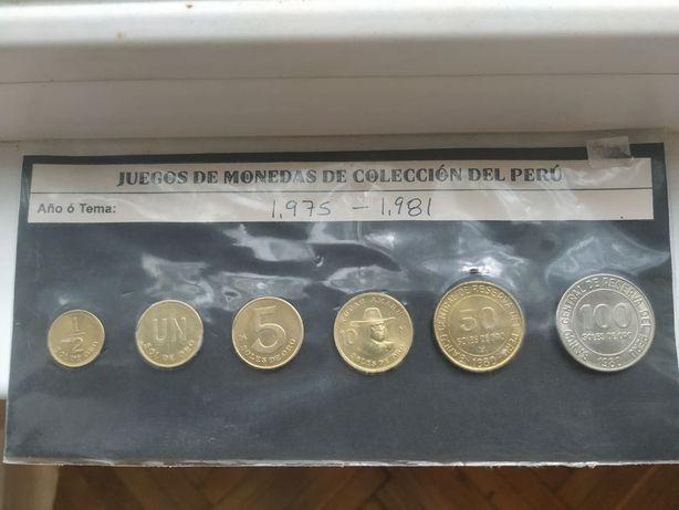 Набор монет Перу 1975-1981 г.г.