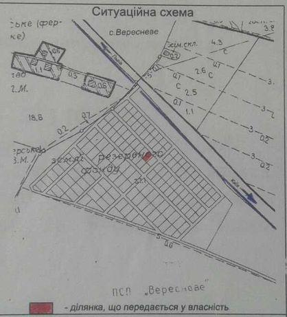Земельна ділянка 9.12 сот. Вересневе