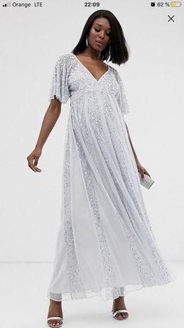 Платье с пайетками для беременных