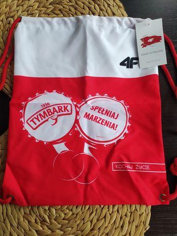 Worek plecak 4F, logo Tymbark