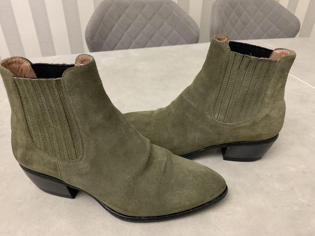 Итальянские замшевые ботиночки