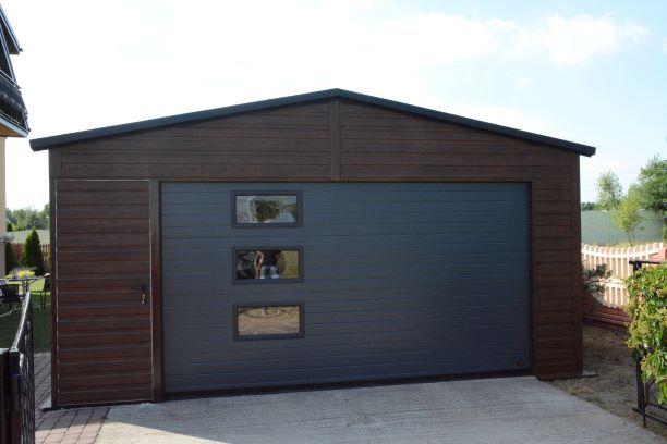 Garaż blaszany drewnopodobny 7x7 6x6 5x5 6x5,80 każdy wymiar