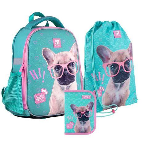 Школьный набор рюкзак + пенал + сумка Kite Studio Pets SP21-555S-1