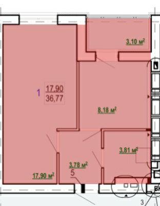 Продам 1 ком квартиру в новострое ЖК Гидропарк