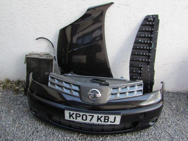 Nissan Note 07r maska zderzak przedni przód chłodnice