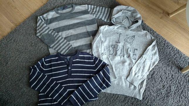 Swetry chłopięce Reserved 128 cena za 3 sztuki