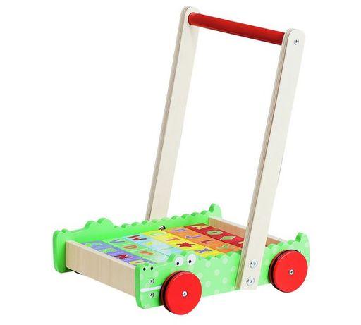 Wózek Chodzik Drewniany Klocki ALFABET