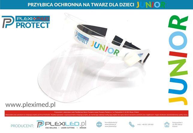 Przyłbica maska ochronna dla dzieci JUNIOR do szkoły
