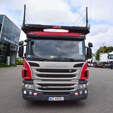 Scania P360 z 2014 + EUROLOHR 1,23 E-2 z 2005 roku Autotransporter