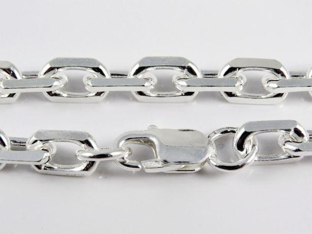 łańcuch Ankier diamentowany(klepany) 50 cm. 60,45 g. duży masywny