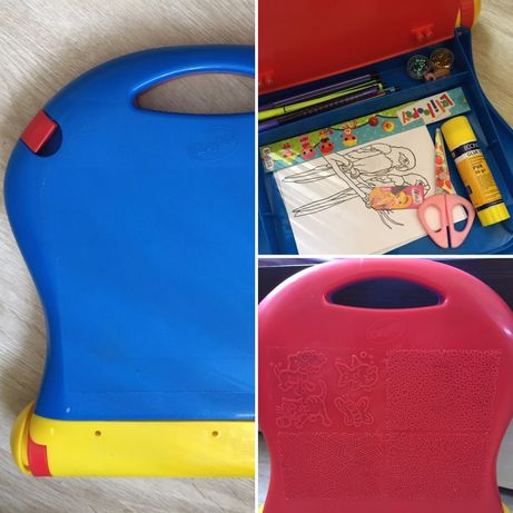 Crayola кейс чемодан планшет мольберт органайзер